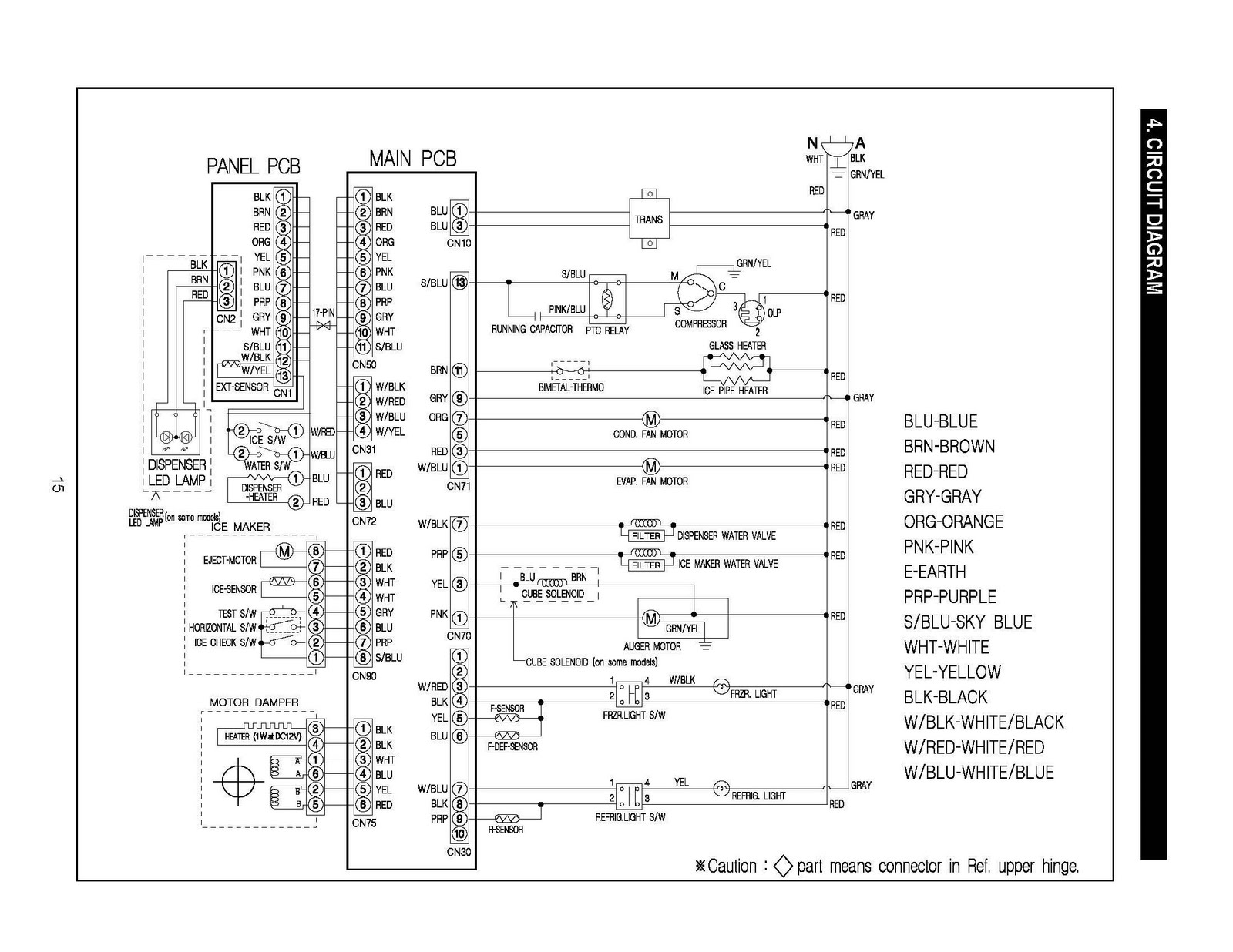 Samsung Refrigerator Wiring Diagram Cat5 Connector Refrigerators Parts 3 Door