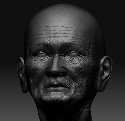 YURI PORTIFOLIO: Old man Modeling and Painting Texture in ZBrush