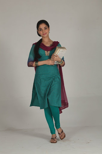 South Indian Actress Tamanna In College Girl Dress In -9963