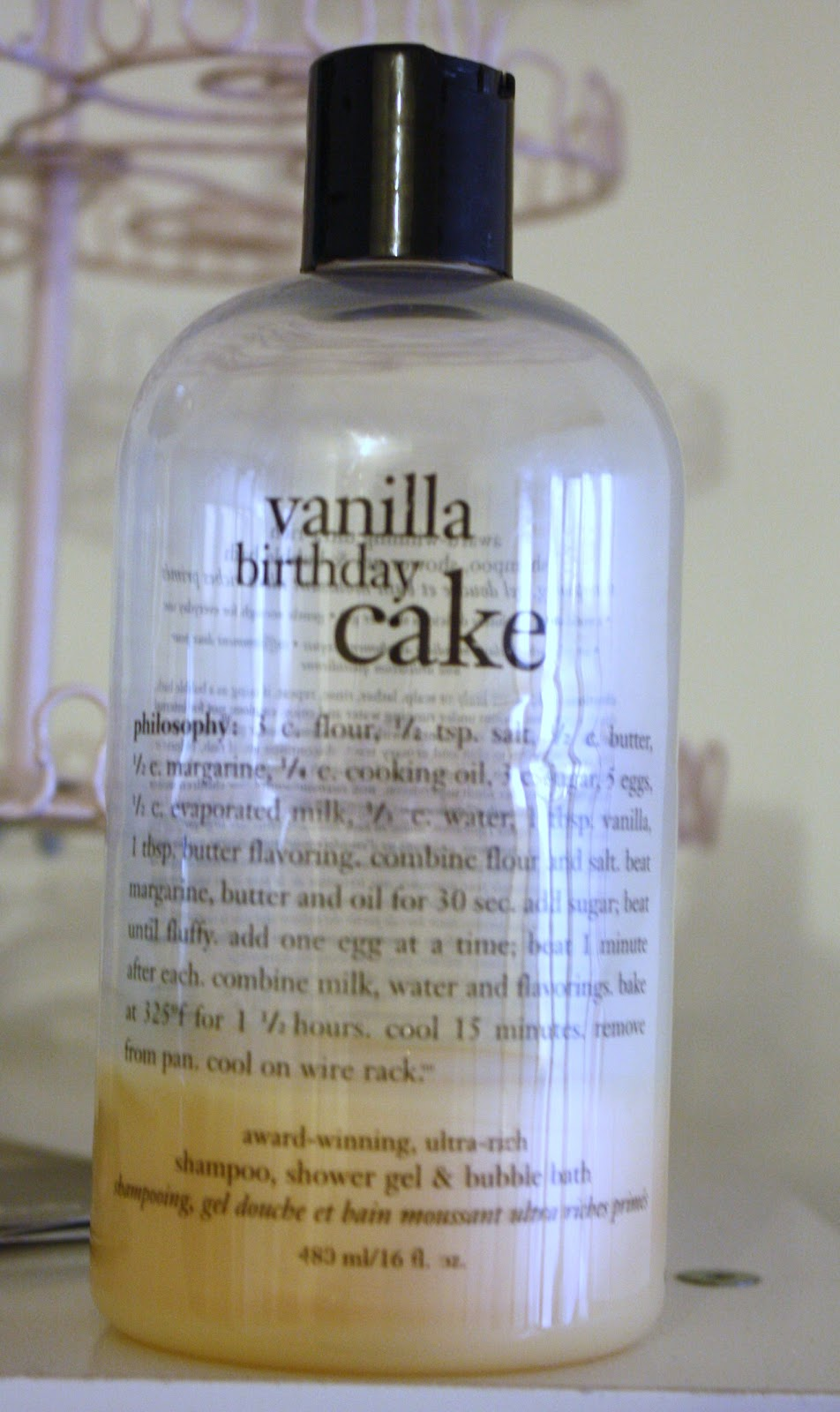 Miss Prissypants: Philosophy Vanilla Birthday Cake Shower