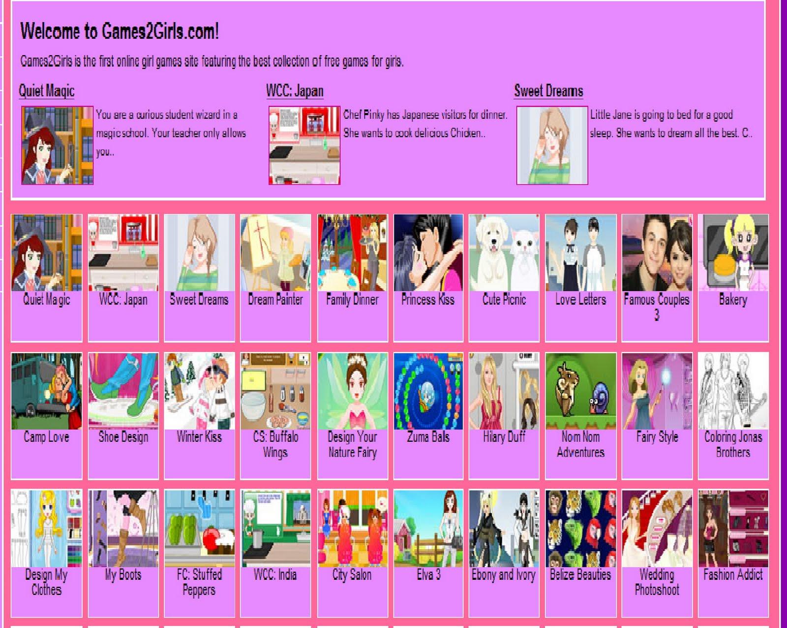 Agezine Games 2 Girls