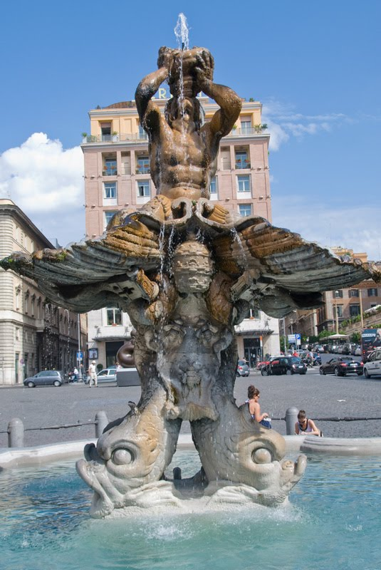 Top 12 most famous and iconic fountains of Rome | Rome Bit ... |Triton Fountain Rome