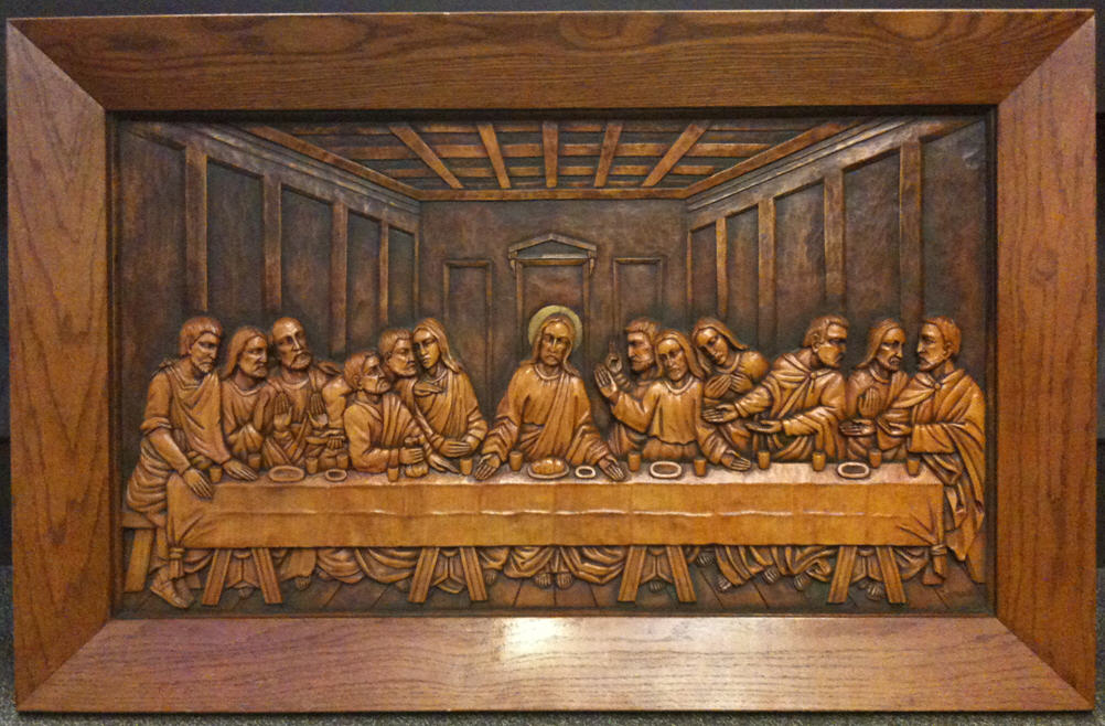 Texaswoodcarving last supper carving by ludwig kieninger