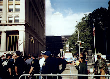 Police barrier at ground zero