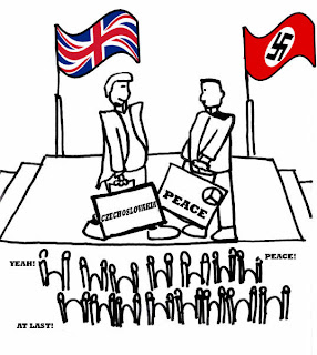 appeasement and the beginning of wwii Appeasement during wwii is  appeasement was the policy followed by british pm neville chamberlain and his allies immediately before the outbreak of world war ii,.