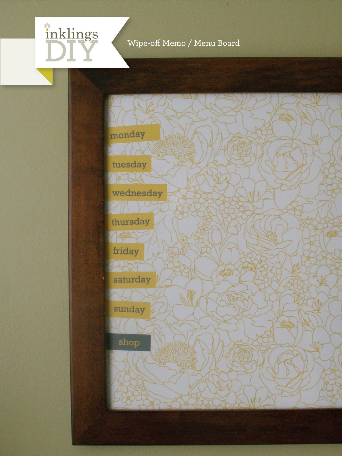 Inklings Paperie Inklings Diy Wipe Off Memo Menu Board
