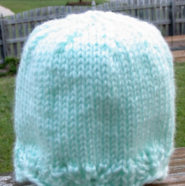 65924d71e961 Knit with KT  Lace Edged Preemie Hat