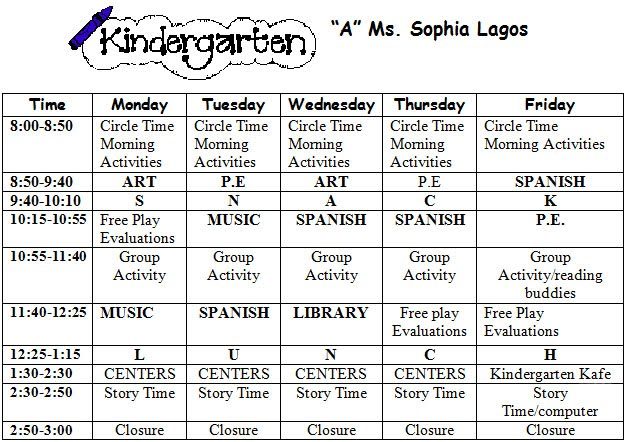 Welcome to kindergarten kindergarten syllabus for Preschool classroom schedule template