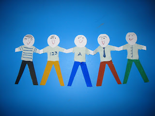 Chain Of Boy Paper Dolls