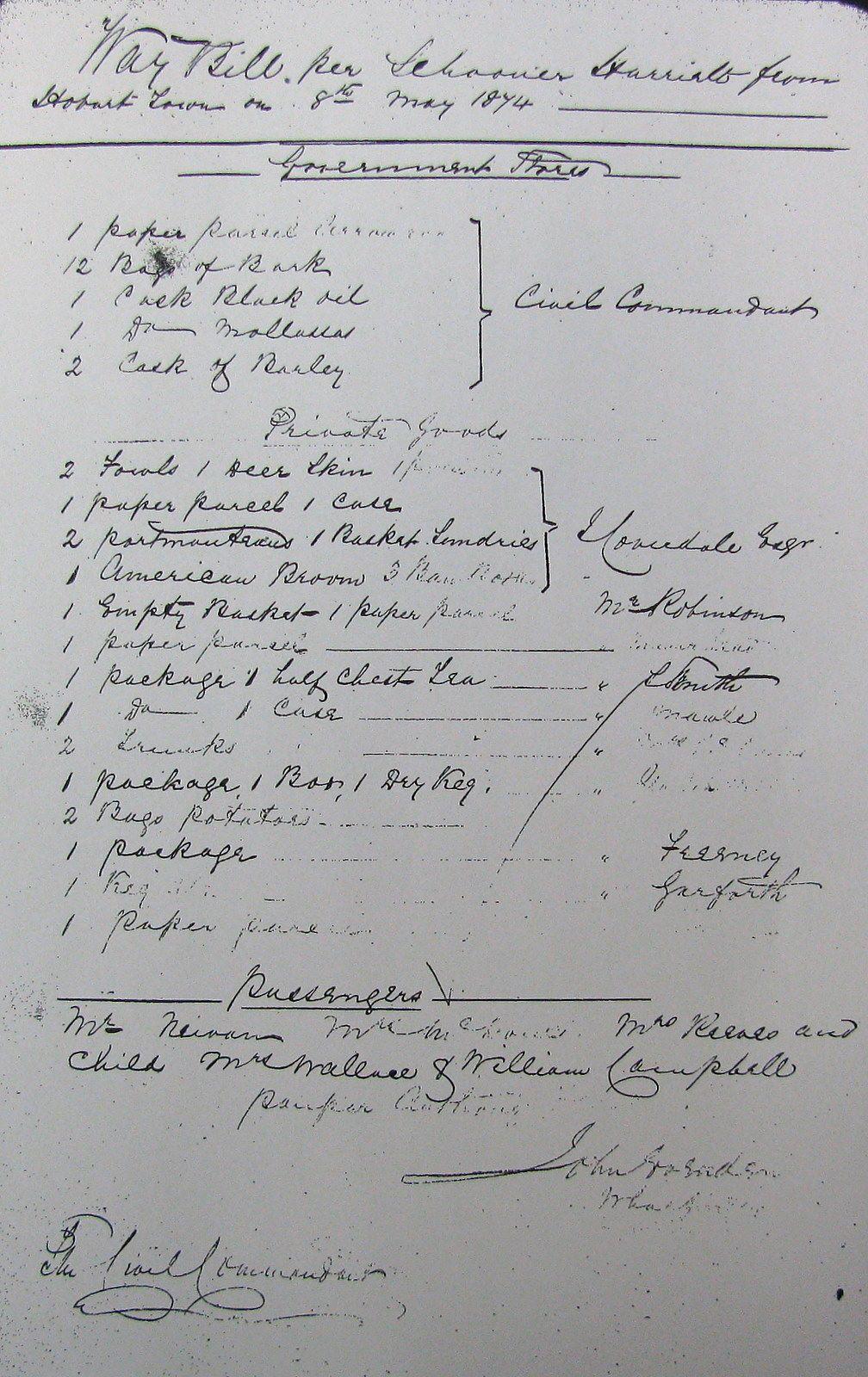 Nevin at Port Arthur May 1874