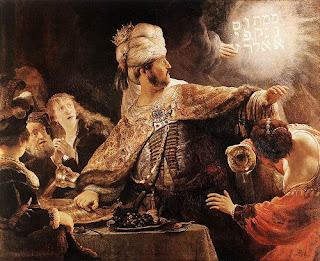 El festín de Baltasar, Rembrandt