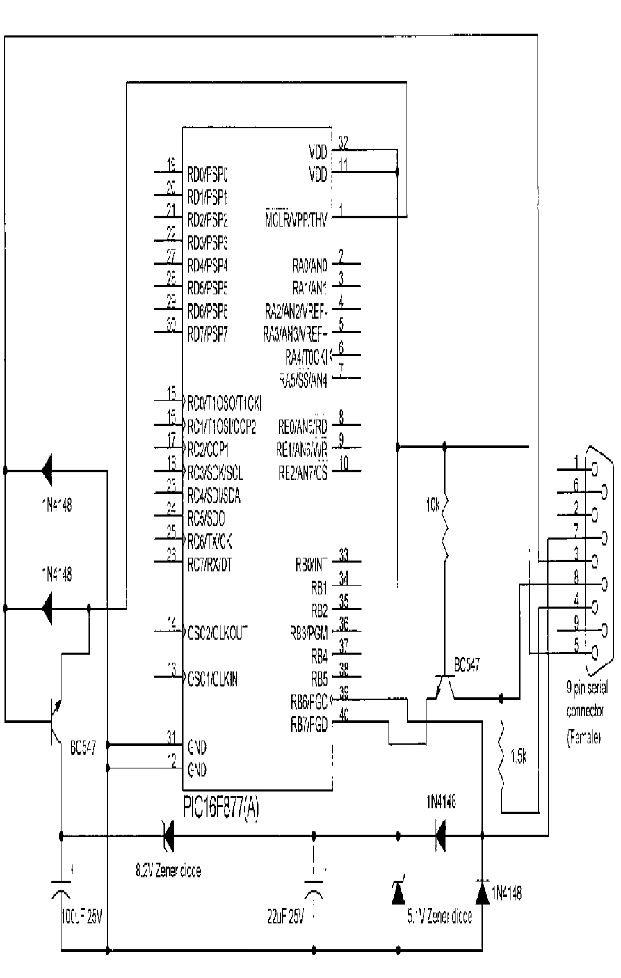 Electronic And Programming  16f877a Programmer