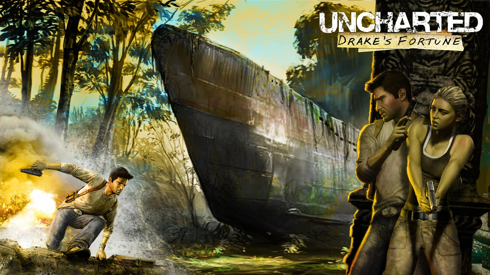 Statue David Uncharted Trailer