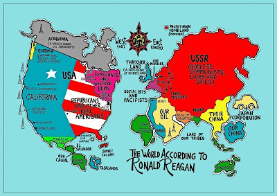 Cool MaPs The World According to Ronald Reagan
