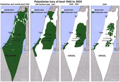 maps of Palestine and Israel