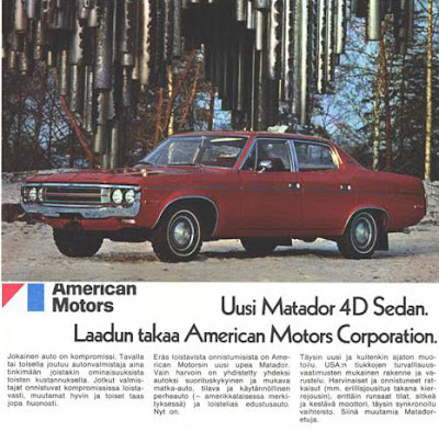 image:1971 Finnish AMC Matador magazine ad, from automotivechronicles.com