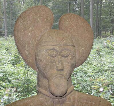 fierce stone warrior from the glauberg plateau
