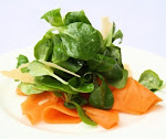 Mache & Persimmon Salad