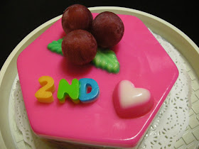 Theaquariusgal Our 2nd Wedding Anniversary Jelly Fruit Cake From Q Jelly Puchong