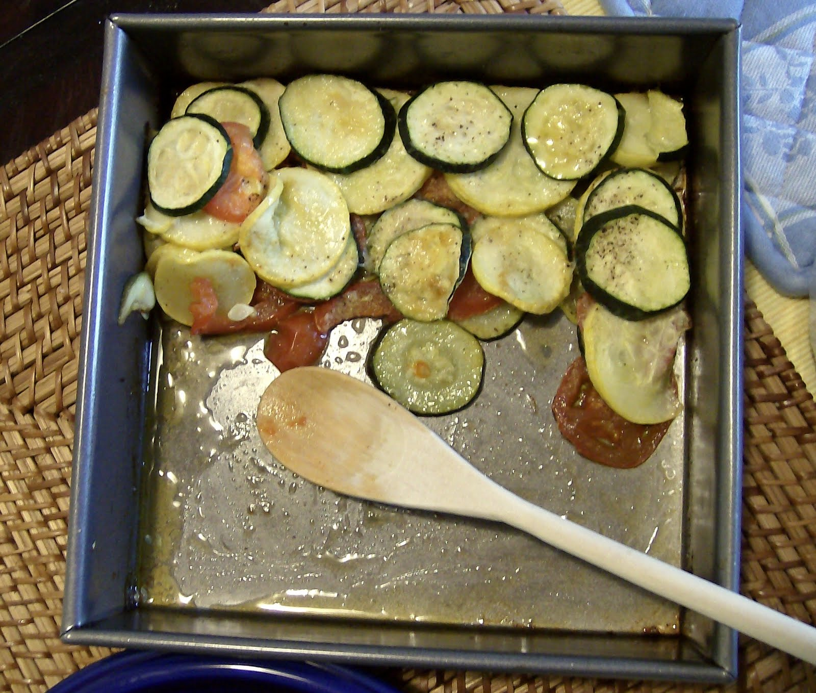 The Skimpy Pantry: Baked Parmesan Zucchini, Summer Squash