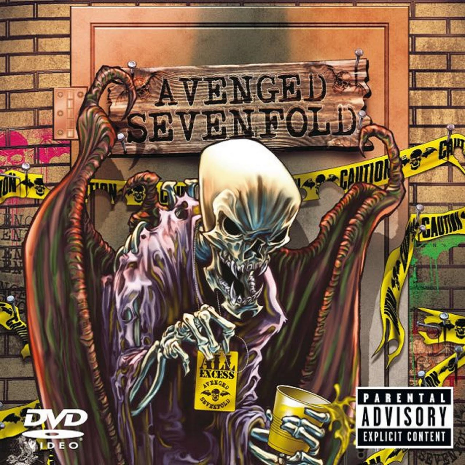 metalcore deathcore avenged sevenfold all excess dvd audio. Black Bedroom Furniture Sets. Home Design Ideas