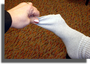 Improper Sock Removal Technique