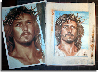 Jesus Christ Superstar oil painting