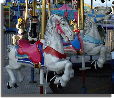Carousel Horses.. I think they're trying to escape