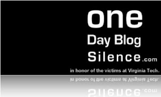 one day blog silence