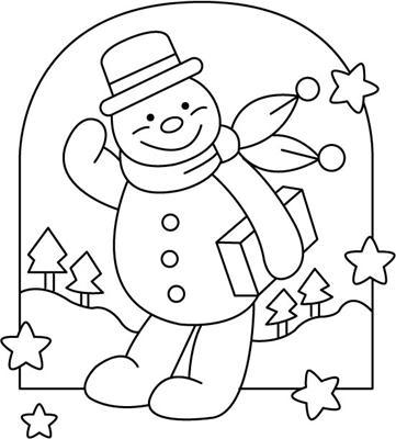 Еще больше идей.  Новогодние трафареты.  А теперь посмотрите на эти рисунки Снеговиков - чем не новогодняя тематика.