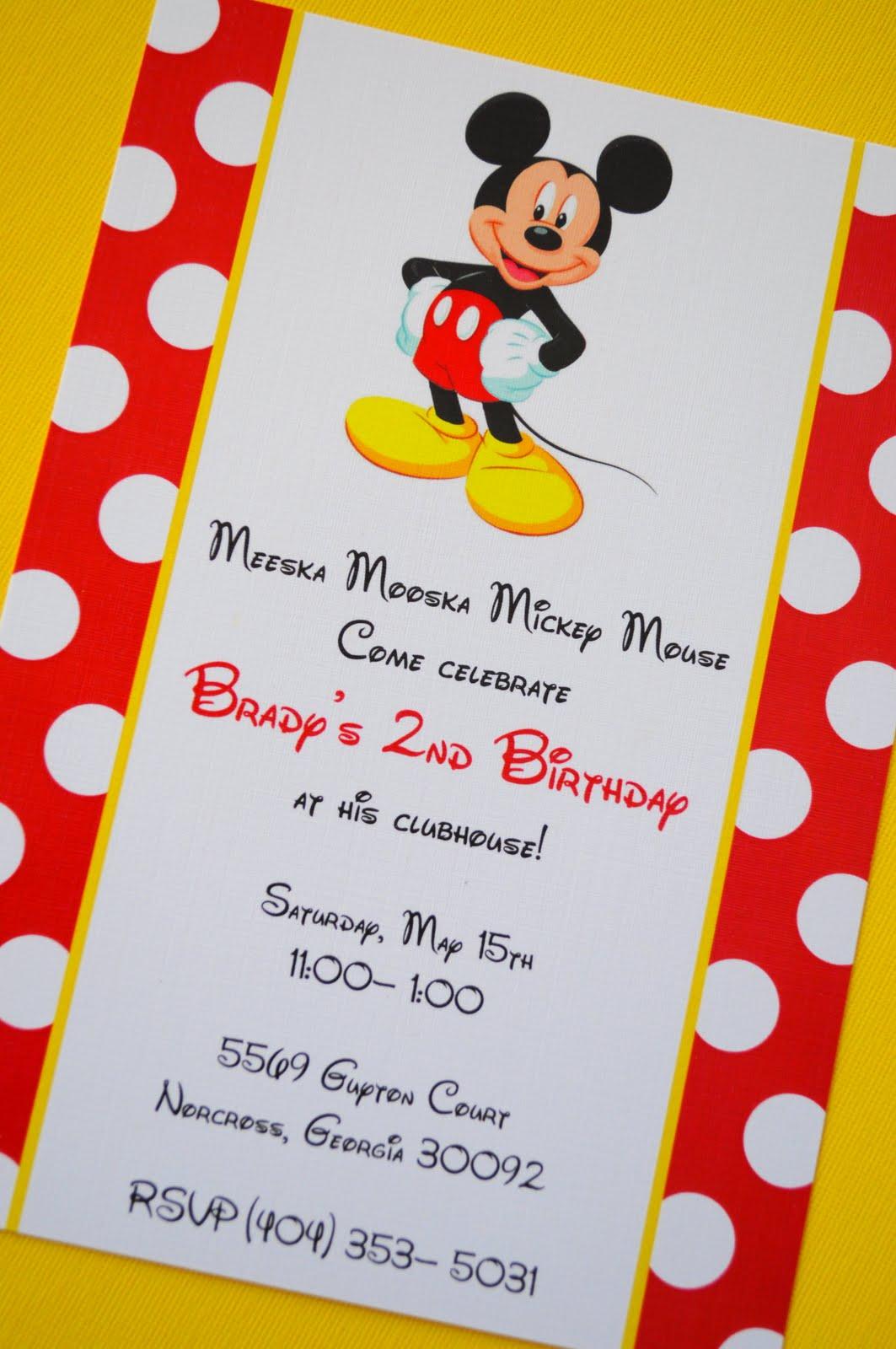 Mickey Mouse Birthday Invites 50 Best Templates