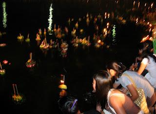 Loy Kratong at Bang Wad Reservoir