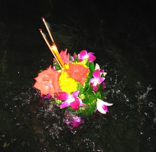 Our kratong on the water