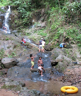 Local kid at TonSai waterfall