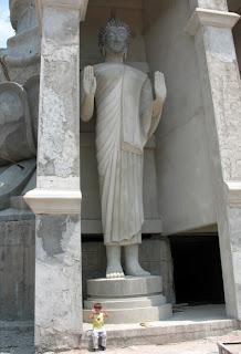 Buddha image built into the rear of the Big Buddha