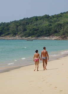 A romantic stroll on Naithon beach