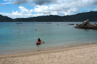 Kayak coming in to Paradise Beach