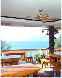 Tri Trang Beach Resort - view from restaurant