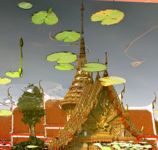 Reflection of Chalong Temple