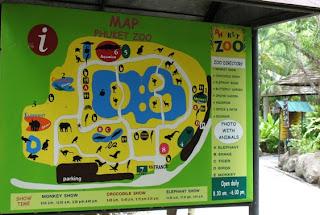 Phuket Zoo Map