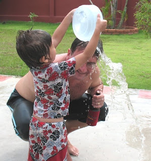 My boy and me, Songkran 2008