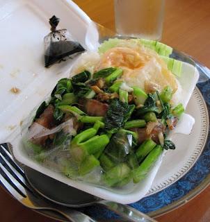 Take away Kana Moo Grob from local restaurant in Karon