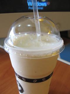 Take away banana shake from Mama Noi, Karon