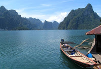 The lake at Khao Sok National Park