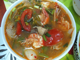 Tom Yum Gung - the classic spicy Thai soup with prawns