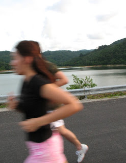 Joggers at Bang Wad Reservoir in Phuket