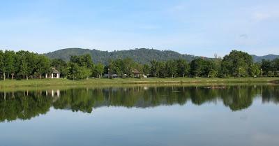 Lake in Suan Luang Park Phuket