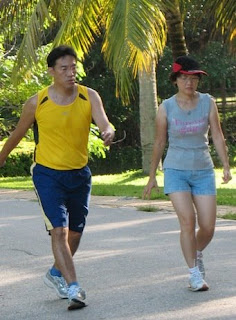 Joggers in the park