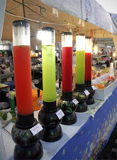Fruit juice stall at OTOP Fair in Phuket