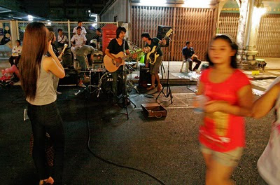 Live rock music on Thalang Road, Phuket Town